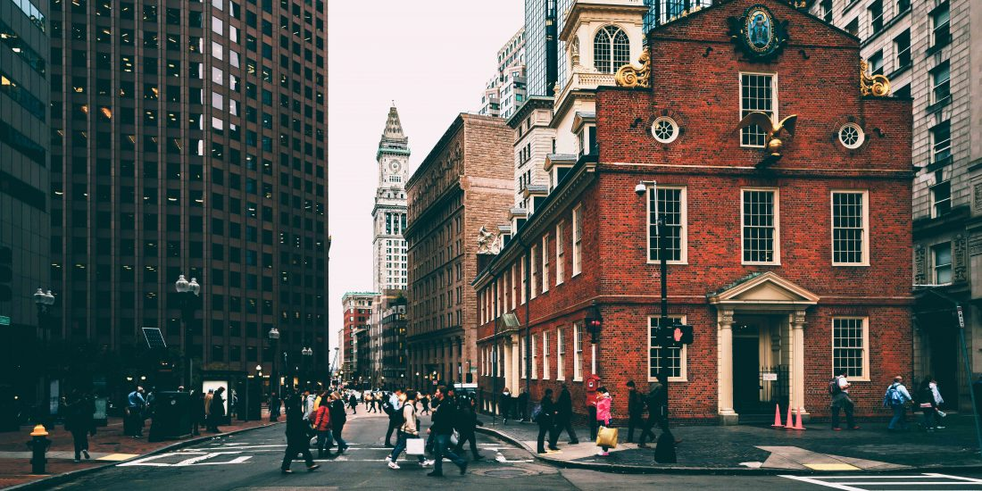 Iconic Old State House in Boston Massachusetts.