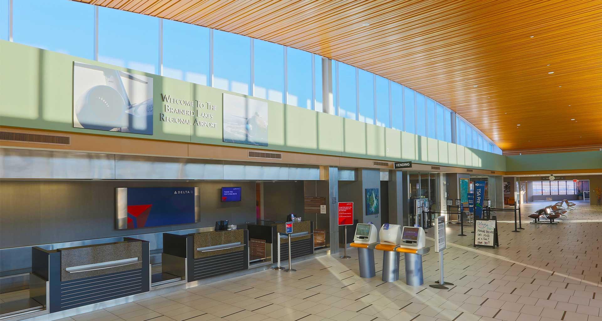 Brainerd Lakes Regional Airport terminal.
